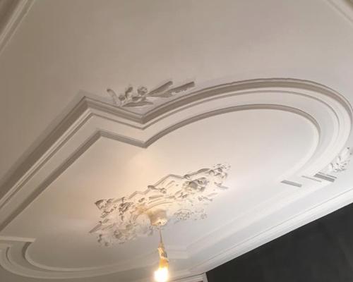 Bijzonder plafond stucwerk met ornamenten
