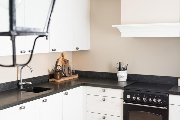 Strak stucwerk in de keuken