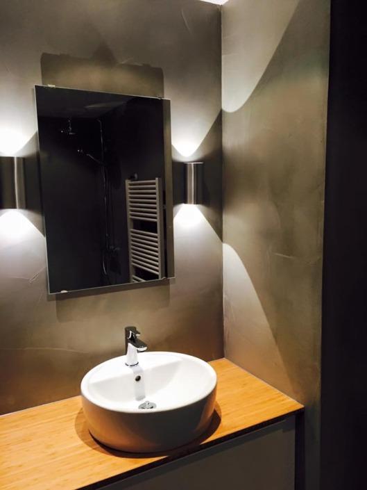 Exclusief stucwerk in badkamer