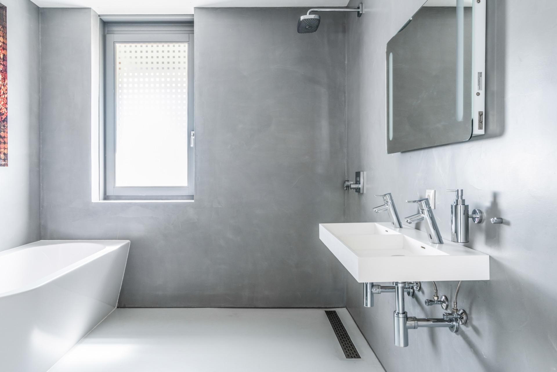 Super Betonlook badkamer in Driebergen Rijsenburg - Bekijk project! ZM-64