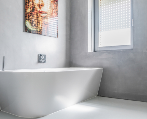 Badkamer stucwerk en afbouw