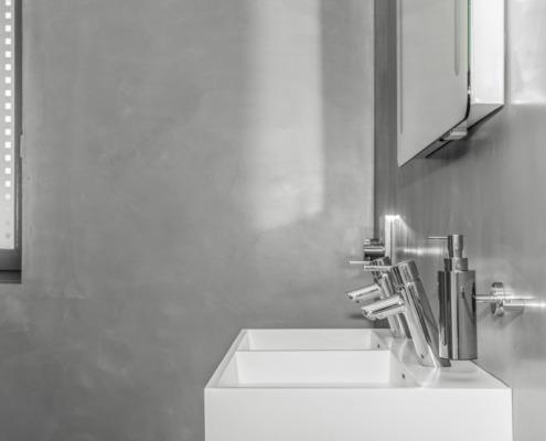 Badkamer betoncire sierpleister