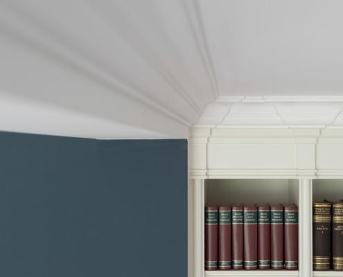 Aanzicht plafond en wanden stucwerk