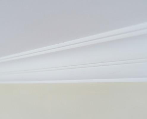 Detail wanden en plafond luxe stucwerk in Hamont