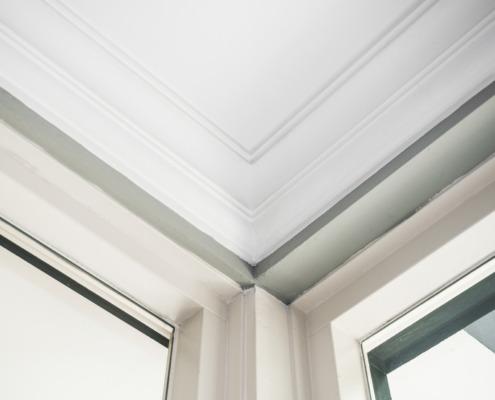 Detail hoek plafondlijsten