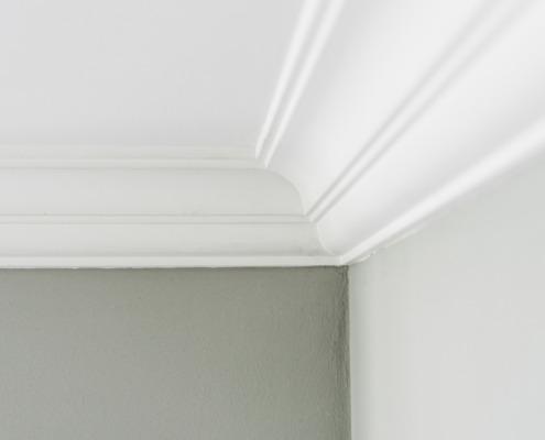 Detail hoek plafond lijsten