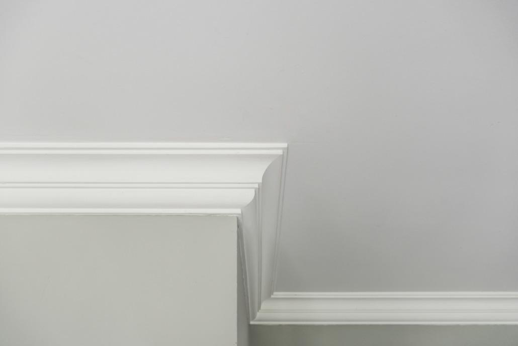 Detailzicht wanden en plafond Hamont