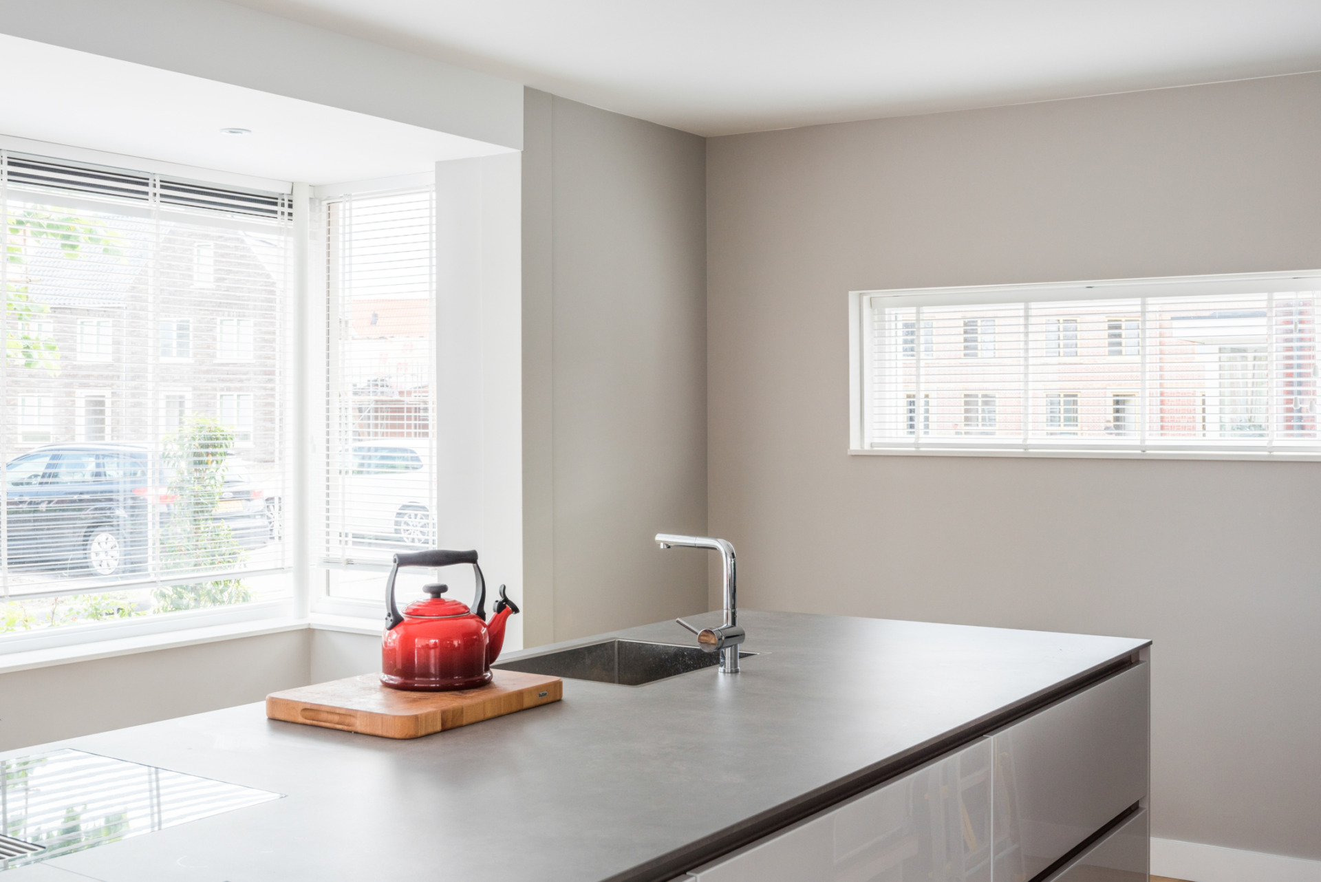 Stucwerk wand en plafond in keuken