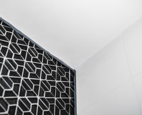 Detail strak stucwerk in Schoonhoven