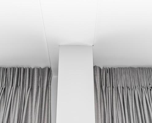 Aanzicht stucwerk wand en plafond Schoonhoven