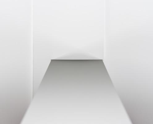 Aanzicht stucwerk wand en plafond