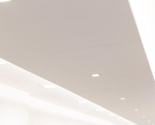 Plafond stucwerk kapsalon Nicoline Coiffures