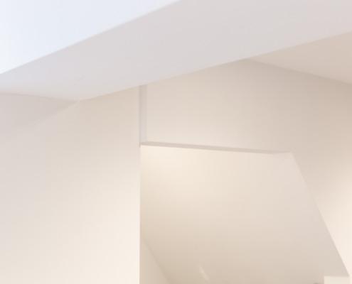 Aanzicht stucwerk in Nicoline Coiffures interieur