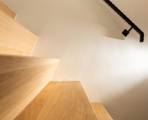 Exclusief stucwerk hal en trap Driebergen