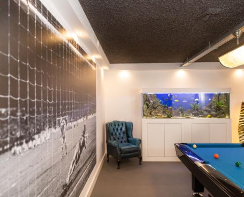Wanden en plafond met strakke afwerking